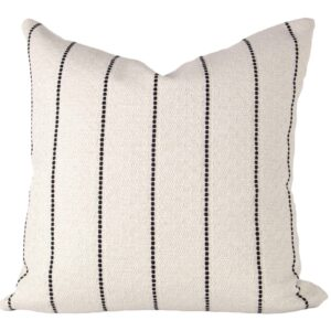 Cream & Black Striped Textured Pillow