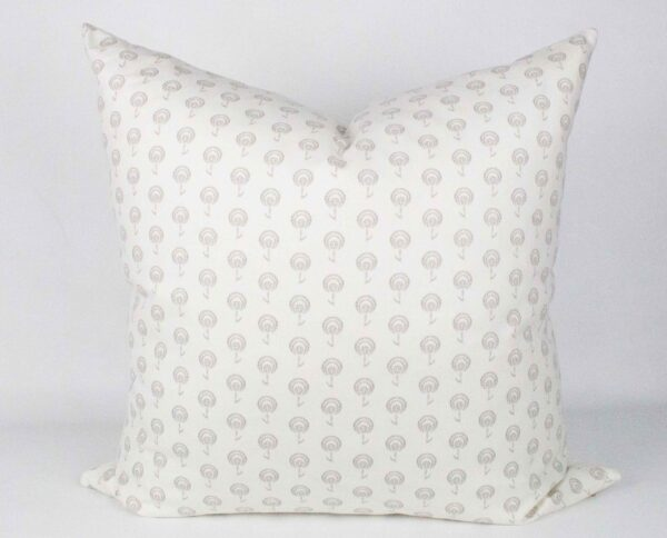 White & Grey Blossom Pillow front