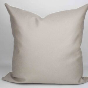 Greige Faux Suede Pillow front