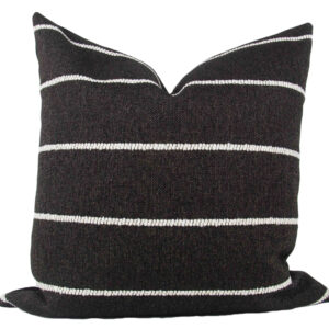 Black & White Rustic Stripe Pillow