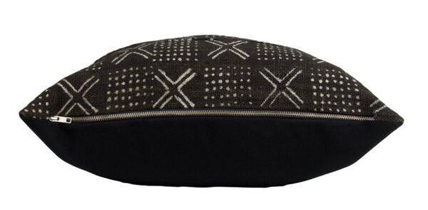"Black Mudcloth Pillow Cover 21"" zipper"
