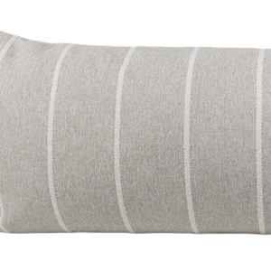 Sand & White Striped Long Lumbar Pillow Cover