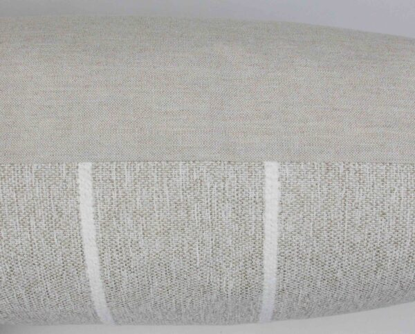 Sand & White Striped Long Lumbar Pillow Cover detail