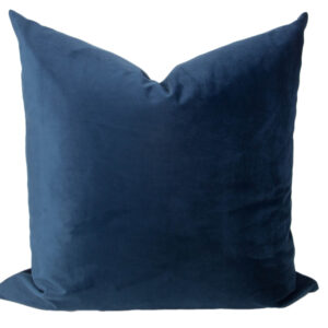 Slate Blue Velvet Pillow Cover