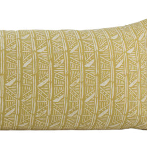 Mustard Yellow Tribal Long Lumbar Pillow
