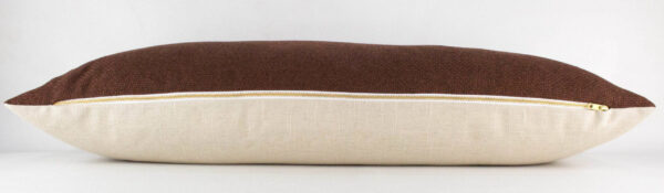 Clay Woven Long Lumbar Pillow zipper