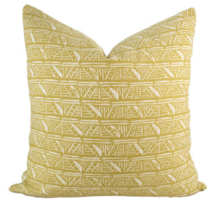 Mustard Yellow Tribal Pillow 20x20""